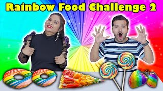 Rainbow Colour Food Challenge Part 2 | Hungry Birds