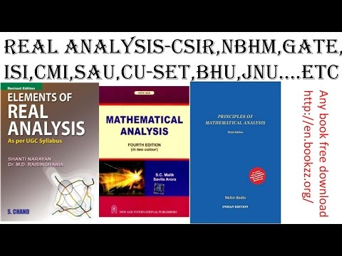 Real analysis -sequence part-1(csir,nbhm,isi,cmi,gate) - YouTube