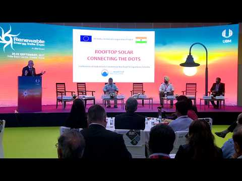"Conference - Rooftop Solar ""Connecting The Dots"" - REI Expo 2017 - MNRE PV Rooftop Cell - Part 1"