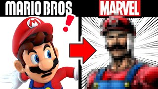 Drawing SUPER MARIO BŔOS in a MARVEL STYLE???