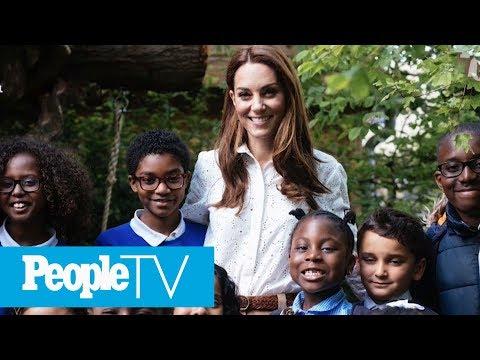 Kate Middleton & Prince William Take George, Charlotte & Louis For Sneak Peek Of Garden | PeopleTV