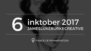 INKTOBER  - 6 - fiance of frankenstein
