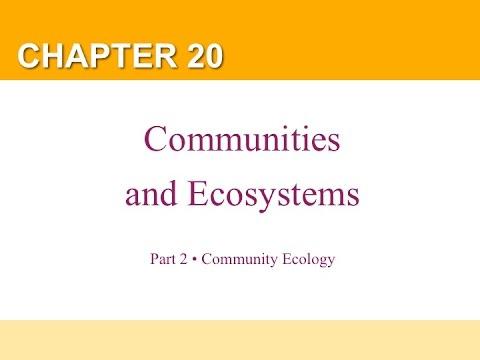 Chapter 20 Part 2 Community Ecology