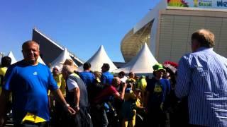 Sao Paulo'da Brezilyalı taraftarlar - Brazil fans at Sao Paulo