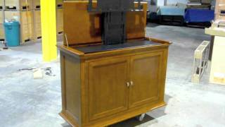 Highland Dark Cherry Tv Lift Cabinet For Flat Screen Tv's Up To 45""