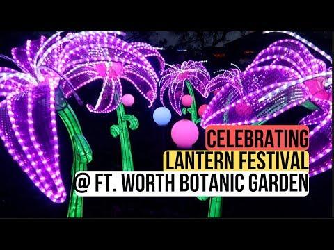 Lanterns In The Garden At Ft. Worth Botanic Gardens!