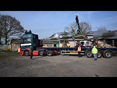Air Race Harrier XV741 Delivery to Brooklands - Timelapsed