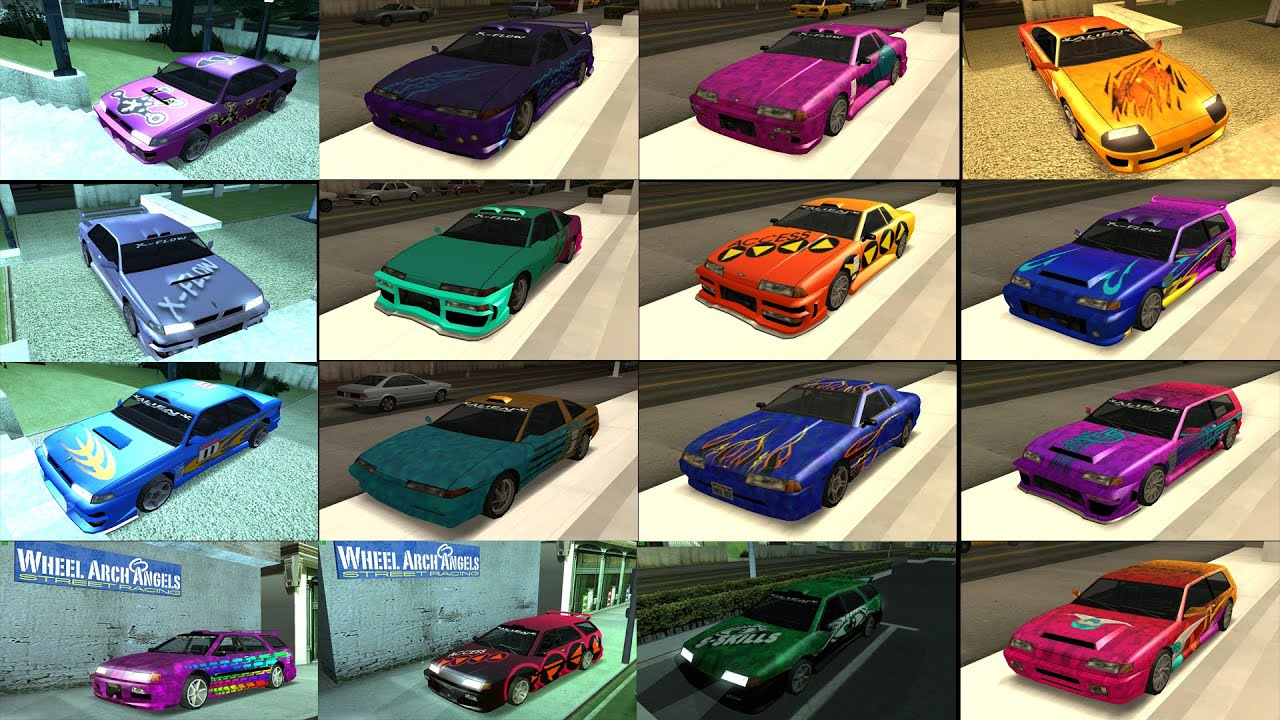 Tempat Modifikasi Mobil Keren Grand Theft Auto San Andreas Android Youtube