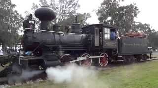 wood burning steam powered train orange blossom special in tavares fl on main st lake dora dr