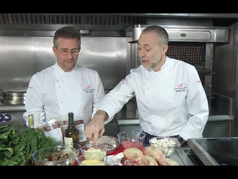 Roux Scholarship 2018: Masterclass recipe demonstration with Alain Roux and Michel Roux Jr