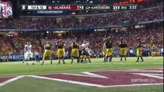 #1 Alabama v. #16 Missouri SEC Championship 2014