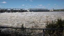 Barrage Carillon d'Hydro-Québec à Pointe-Fortune - 3 mai 2017