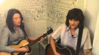 Amy Ray acoustic version of Stand and Deliver with Brandi Carlile