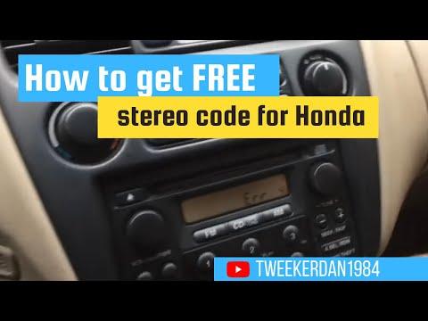 How to Retrieve stereo Code for Honda free