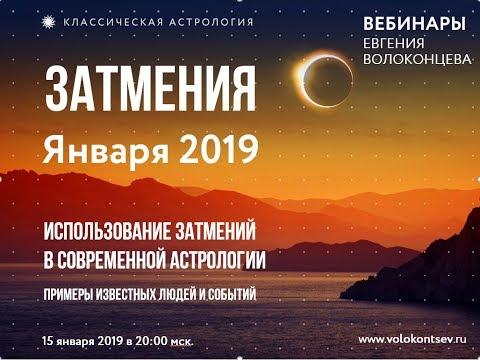 Возможности метода Затмений, обсуждение затмений Января 2019, некоторые примеры.