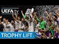 Watch the moment Sergio Ramos lifted the UEFA Champions League trophy