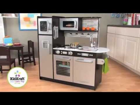 KidKraft Uptown Espresso Kitchen | 53260 - YouTube