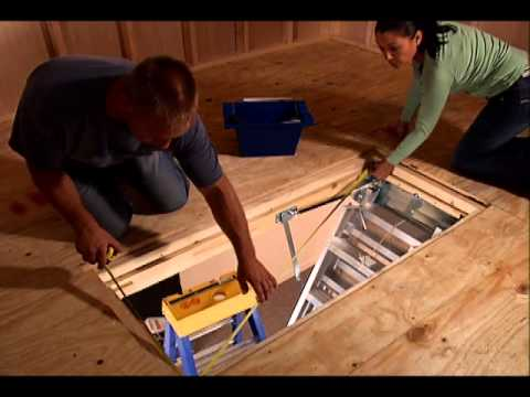 Keller Aluminum Attic Ladder Complete Installation Video