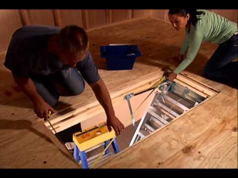 Awesome KELLER   Aluminum Attic Ladder Complete Installation Video