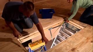 KELLER - Aluminum Attic Ladder Complete Installation Video