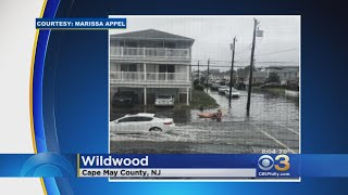 Man Caught Canoeing On Submerged Roads During Storm In Wildwood