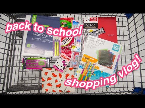 BACK TO SCHOOL supplies shopping vlog! | GRADE 11