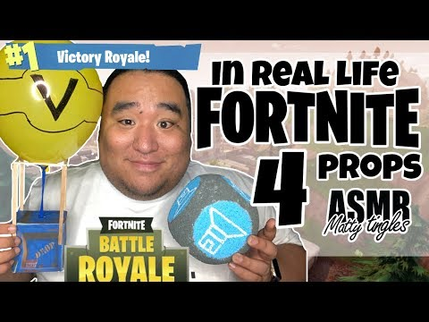 [ASMR] IN REAL LIFE - FORTNITE PROPS 4 | MattyTingles