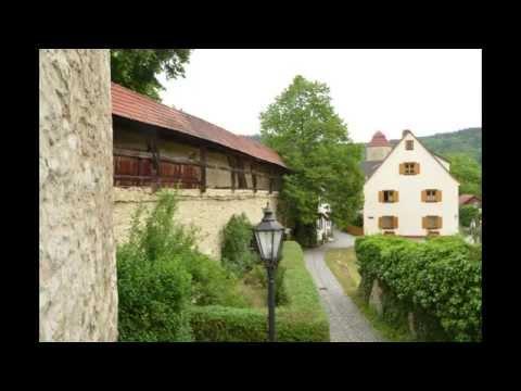 Walk through Berching, Bavaria, Germany
