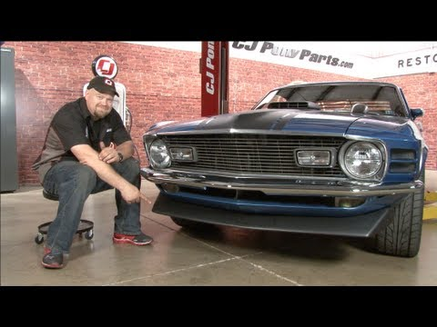 mustang abs plastic front spoiler 1970 installation - youtube