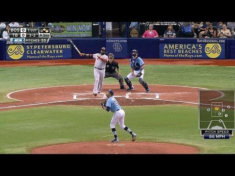 Papi blasts a three-run homer to right