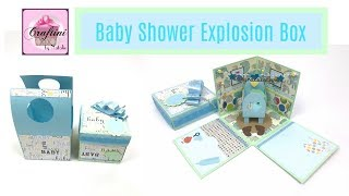 The Best Baby Shower gift card holder - DIY: How to make baby shower explosion box