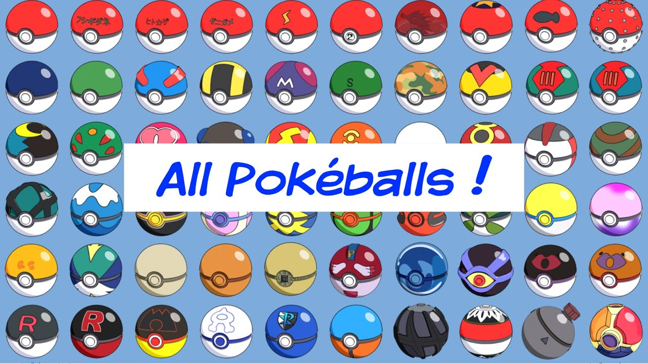 All Pokemon Pokeballs