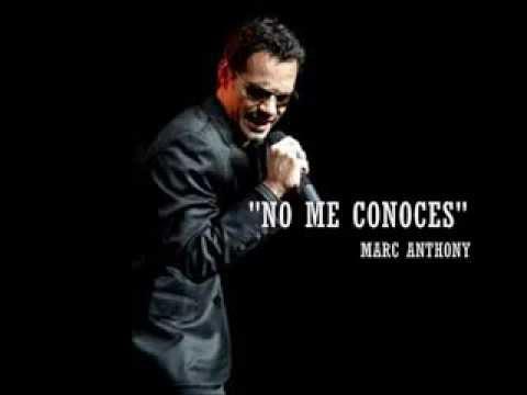 No me conoces - Marc Anthony (Letra)