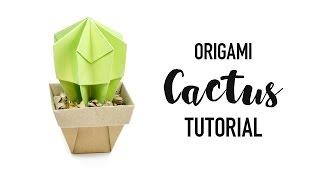 Origami Cactus Tutorial - DIY Succulent - Paper Kawaii
