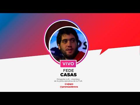 Entrevista a Fede Casas, dirigente de la UJS // Instagram Live