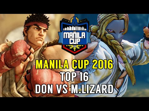 Street Fighter V Tournament: Manila Cup 2016 Top 16 - PBE Don (Ryu) v M.Lizard (Vega)
