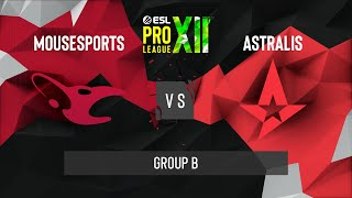 CS:GO - Astralis vs. mousesports [Dust2] Map 1 - ESL Pro League Season 12 - Group B - EU
