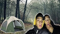 1 NACHT LANG IM WALD ZELTEN !!! (+ iPhone X GEWINN) | Kelvin und Marvin