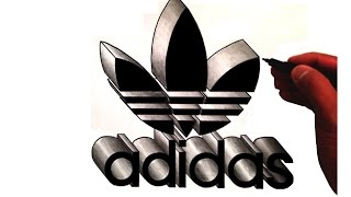 Video How to Draw the Adidas Trefoil Logo in 3D download MP3, 3GP, MP4, WEBM, AVI, FLV Juni 2018