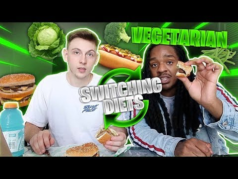 Switching DIETS With My Vegetarian Friend for 24 HOURS!!! (GOOD IDEA) Ft. Poudii thumbnail