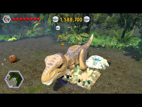 LEGO Jurassic World 100% Guide - Indominus Territory (Jurassic World Hub) All Collectibles