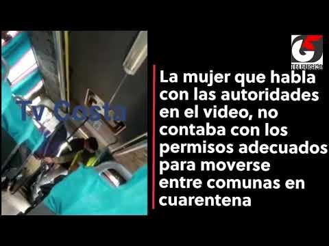 """Armada y Salud explicaron razones para """"bajar"""" desde bus a mujer sin permisos de desplazamiento"""