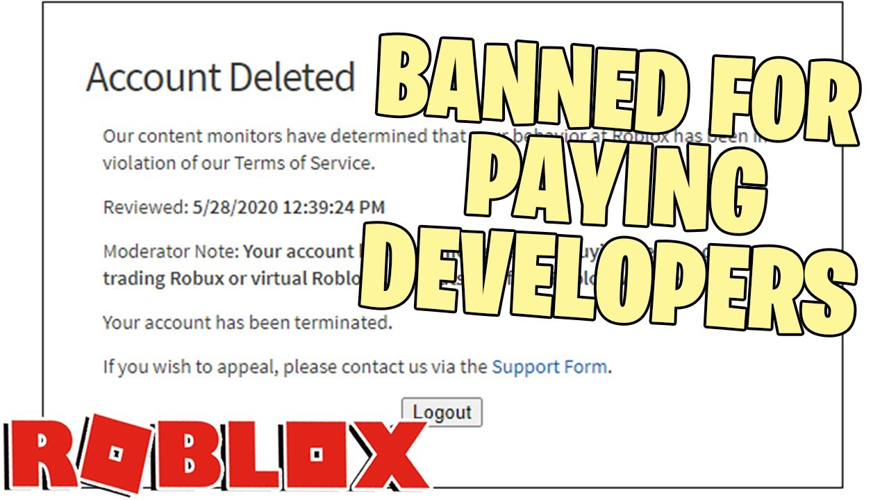 Roblox Appeals Team Roblox Developer Teams Banned Falsely Youtube
