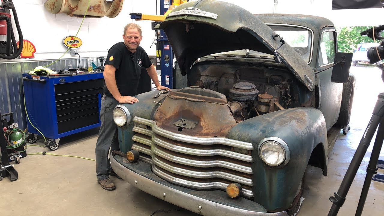 Will It Run? 1950 Chevy pickup pulled from the forest