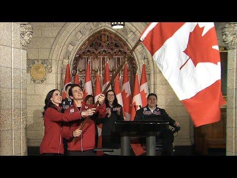 Tessa Virtue and Scott Moir named Canada's Olympic flag-bearers