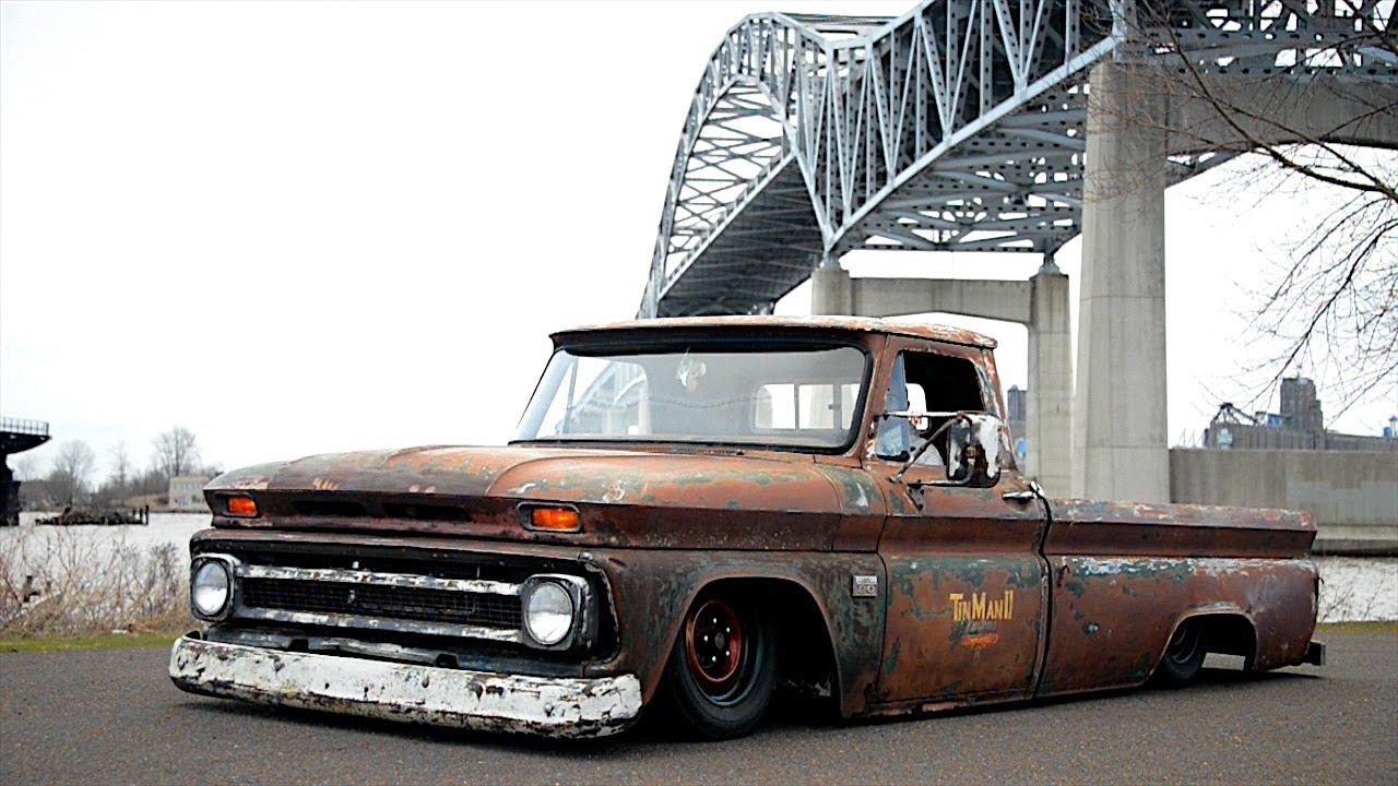 Cmeslam Bagged C10 Rat Rod Truck Youtube
