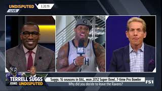 UNDISPUTED on FS1 | Terrell Suggs: Suggs: Super Bowl champ, 7-time Pro Bowler, signed with Cardinals