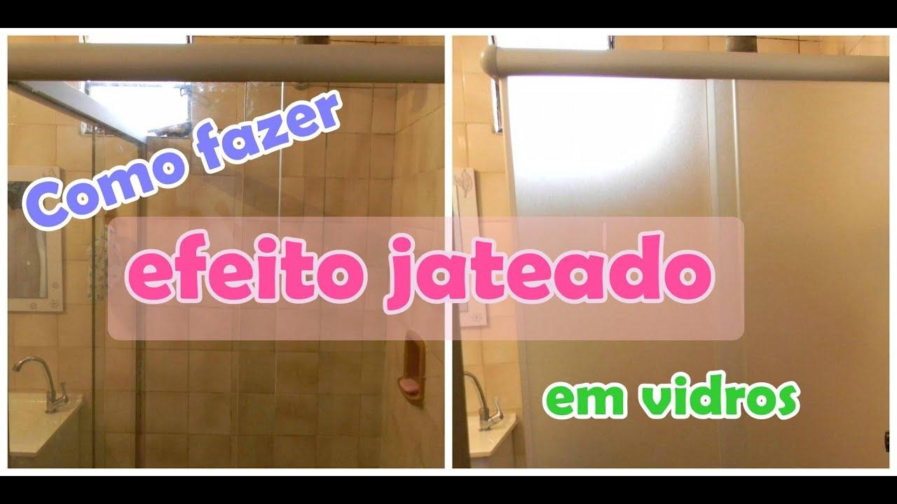 Imagens de #C9025C Como fazer efeito jateado em vidros.   2400x1200 px 3492 Blindex Para Banheiro Jateado
