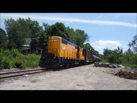 NHCR Empty Tanker Train Chase | Whitefield to Lancaster, NH 7/21/16