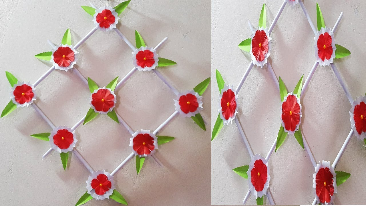 New Paper Flower Wall Hanging Diy Decoration Ideas Youtube
